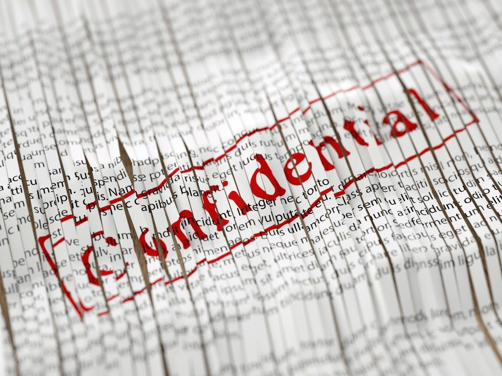Shreding confidential files