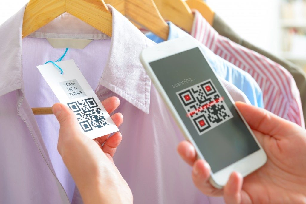 QR tag on a cloth