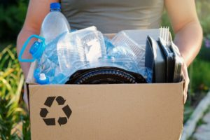 box of recyclable materials