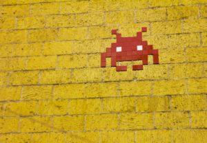 8-bit art of Space Invaders