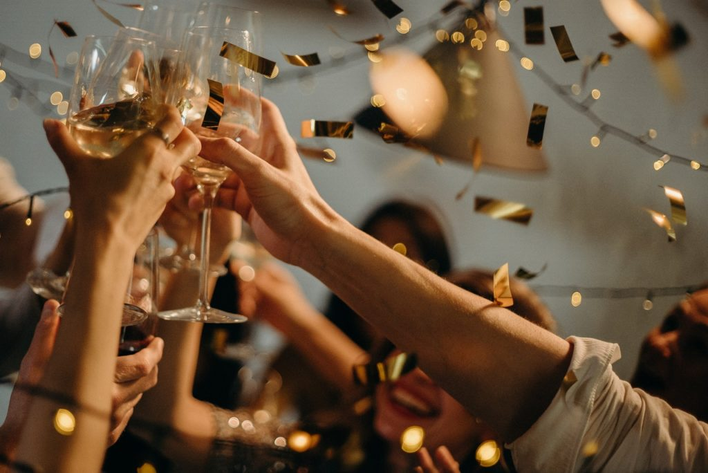 party - raising glass